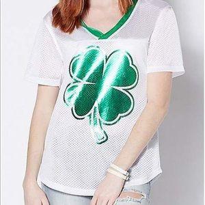 St. Patrick's Day Shamrock Lucky Bitch Shirt